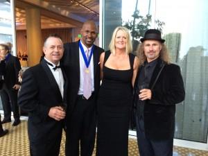 Scott Szabo, MC Burton, Sarah Heise, and Todd Szabo